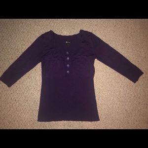 NWOT Soft purple 3/4 length sleeve sweater
